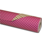 50 M papier cadeau rose fonc ray marron