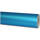 50 M papier cadeau turquoise metal mat